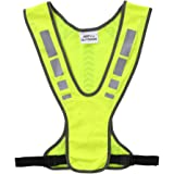 Decdeal High Visibility Safety Vest Outdoor Sports Running Cycling Reflective Vest with Pocket