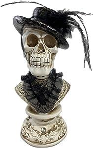 Gerson Skeleton on Pedestal Lighted Halloween Figurine