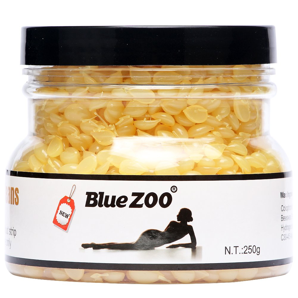 Bluezoo Depilatory Hard Wax Beads Stripless Hot Film Waxing Pellets for Body Bikini Hair Removal 250g Lavender