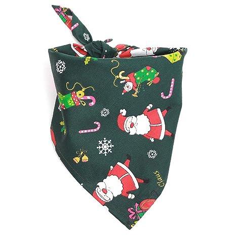 Ishero Navidad Elegante Saliva Toalla algodón triángulo Bufanda Adornos de Navidad