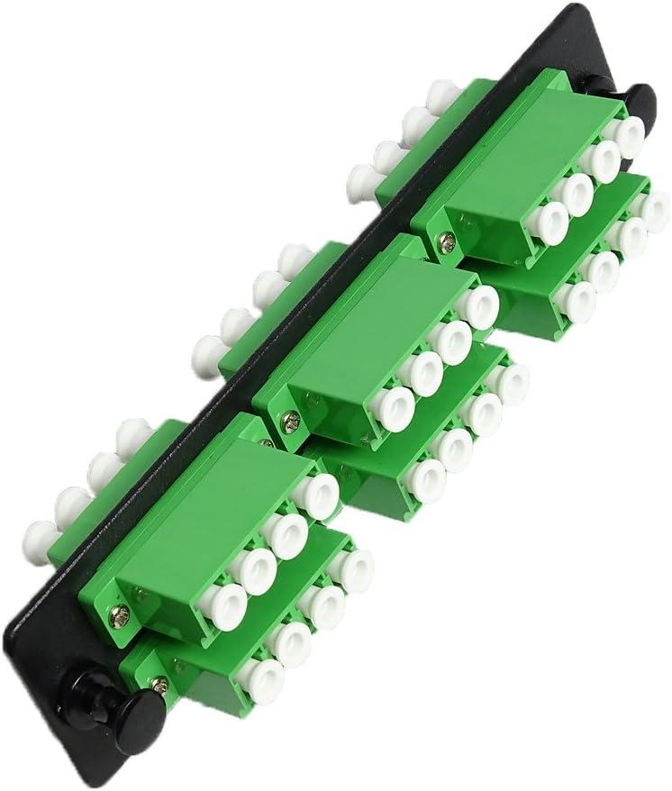 RiteAV LGX Footprint FC Adapter Panel Black 8 Ports Loaded w//8 FC Simplex Multimode Adapters