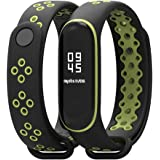 KOMI Compatible with Xiaomi Mi 3/4 Band Smart Watch, Breathable Sport Silicone Wristbands Bracelet for Woman Men Replacement