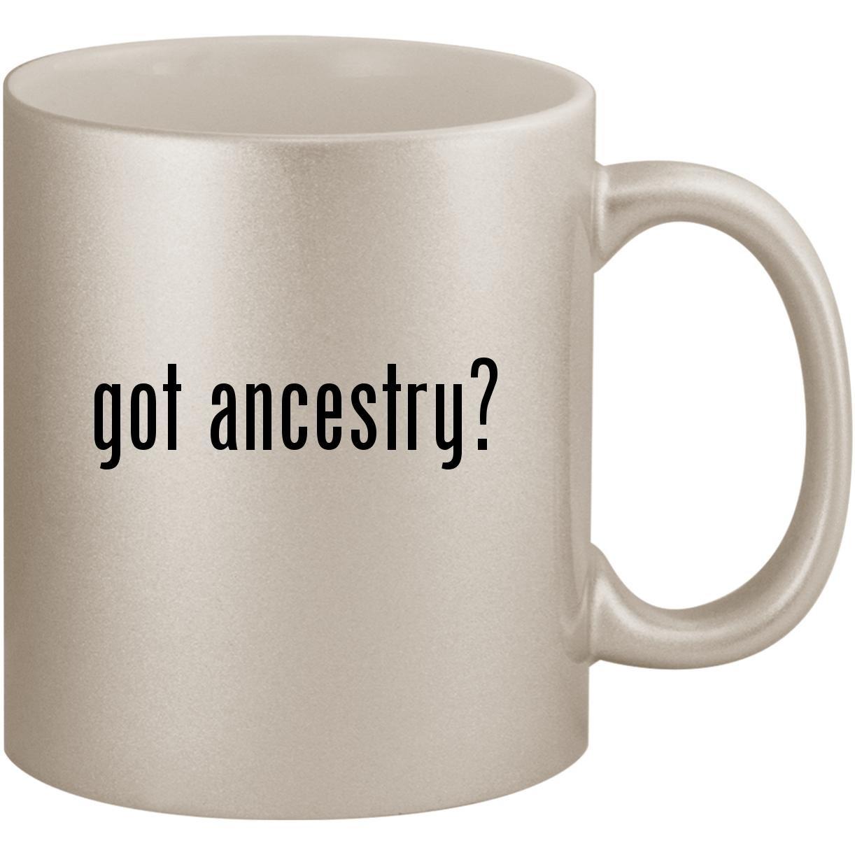 got ancestry? - 11oz Ceramic Coffee Mug Cup, Silver