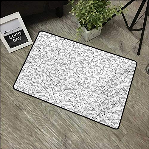 - HRoomDecor Abstract,Durable Rubber Door Mat Surreal Doodle Drawing Style Geometric Pattern Line Art Cubism Inspired Design W 24