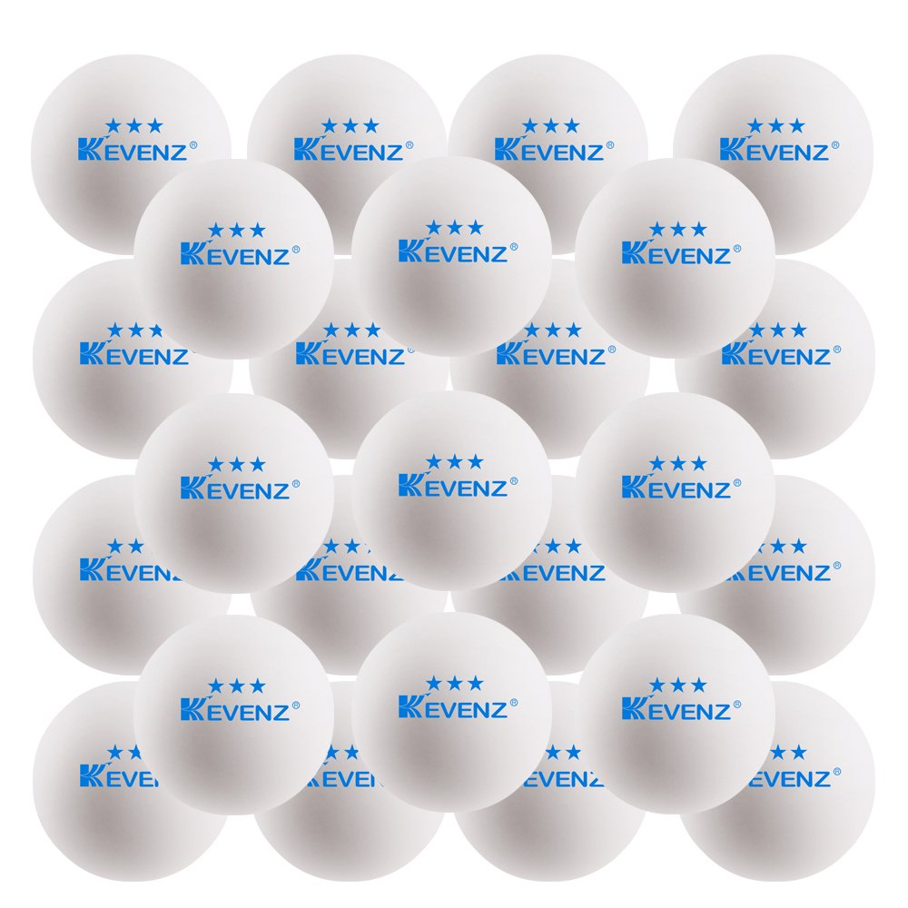 50-Pack KEVENZ 3-Star 40mm White Table Tennis Balls,Advanced tournament Ping Pong Balls