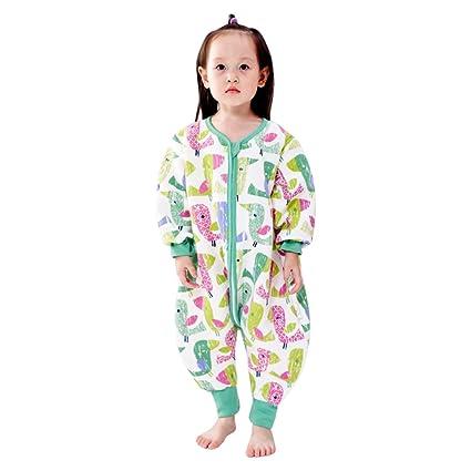 Saco de dormir Bebés Bolsa de dormir Algodón Manta usable Manga larga (L)