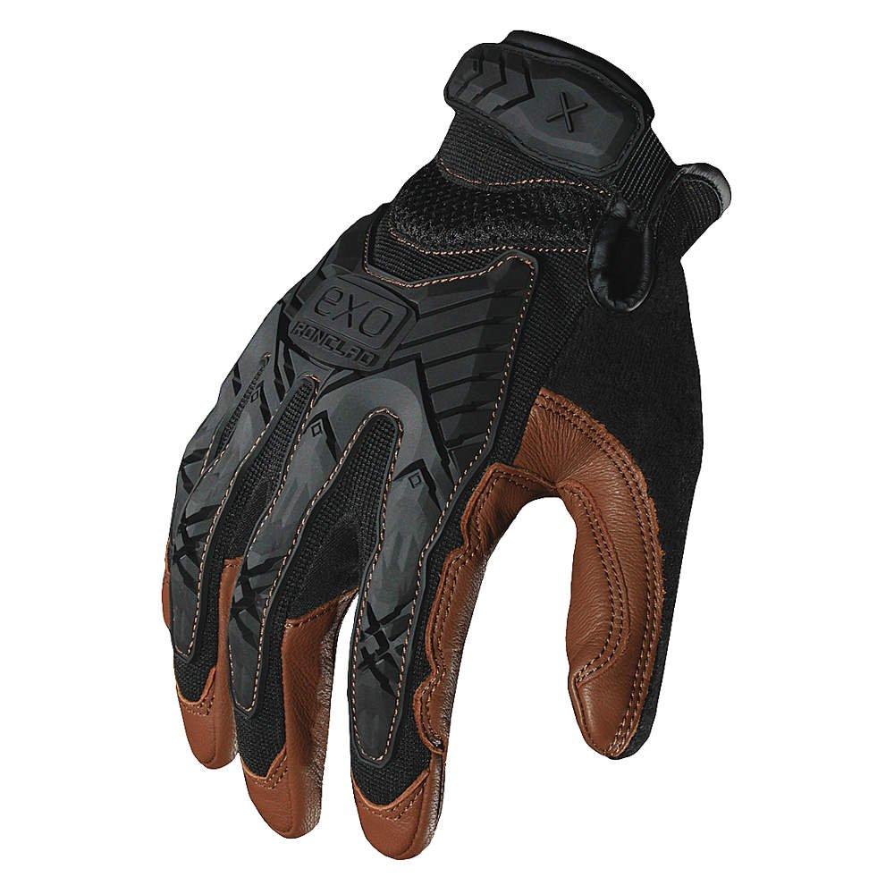 Impact Mechanics Glove, Black/Brown, M, PR by Ironclad
