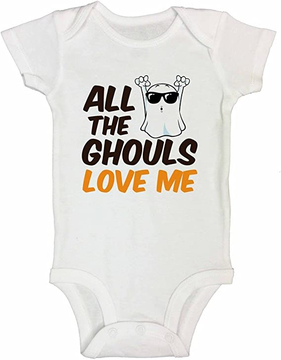 Fall Tees 480 Ghoul Shirt Boys Halloween Body Suit Pumpkin Patch Shirt Toddler Halloween Shirt All The Ghouls Love Me Onesie