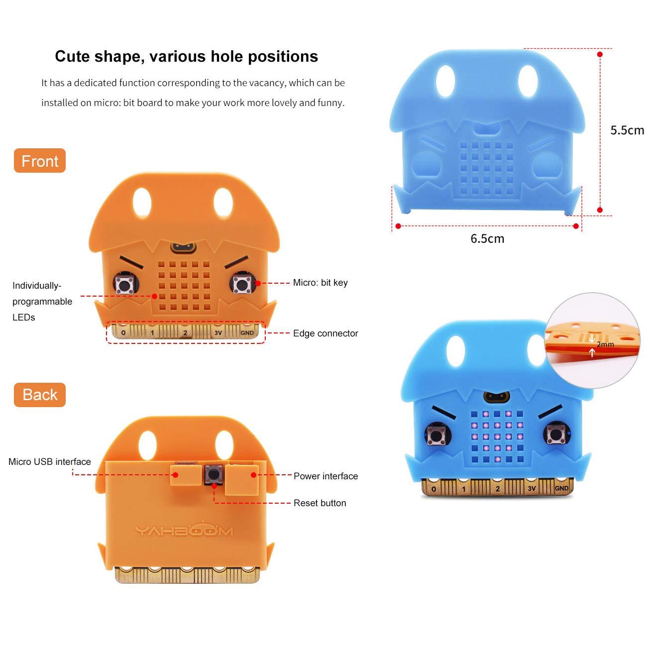 Cute Silicone Protective Case for BBC Micro bit(Color Random) Yahboom Micro:bit Storage Box with Micro bit Case Compression Resistance Waterproof Mini Box