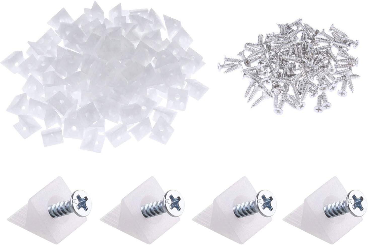 50 unidades de cajones de plástico para reparación de cajones y muebles, con tornillos