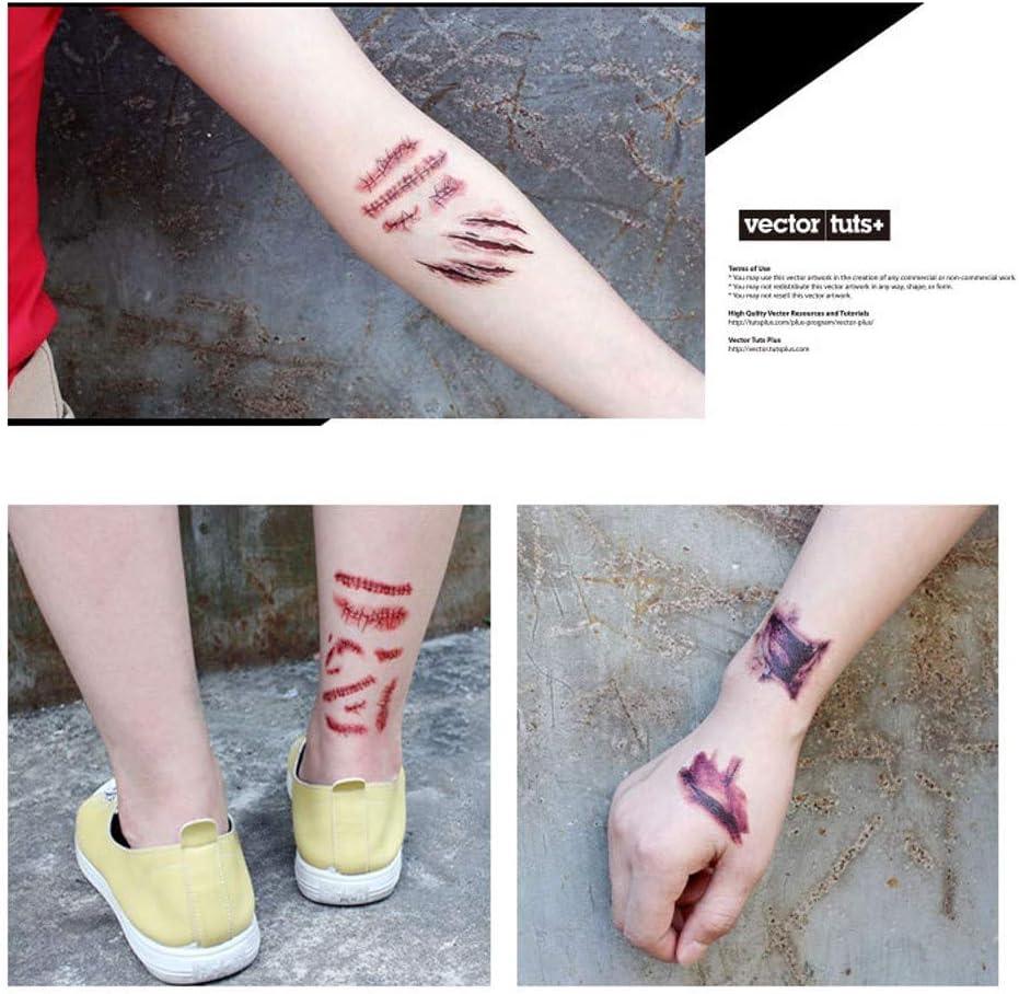 Sticker Halloween Tatuaje Zombie Cicatrices Heridas Tatuajes ...