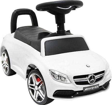 Amazon   足けり乗用玩具 BENZ C63 AMG メルセデスベンツ ライセンス 足けり おもちゃ 車の乗物 子供用乗り物 [BENZ C63  COUPE No638] (ホワイト)   乗用玩具   おもちゃ