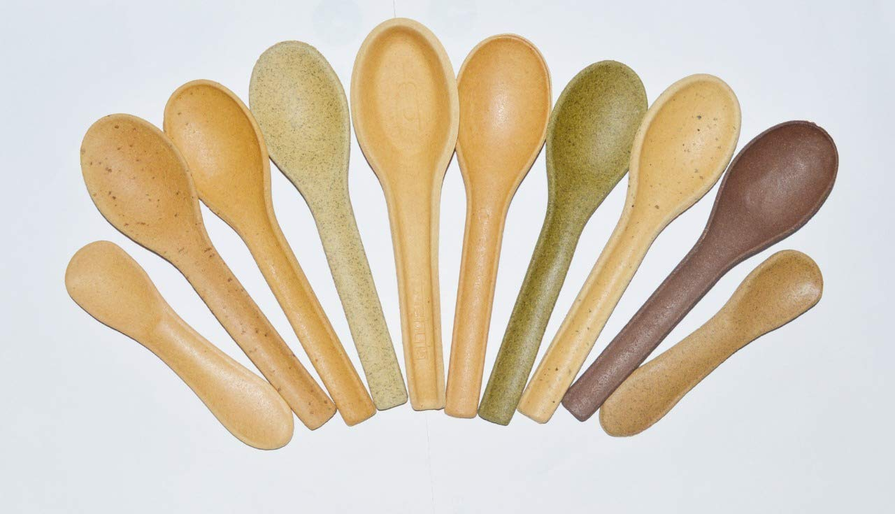 Trishula India Edible Spoons Pack of 100 Spoons Simply slated,  Chocolate,Mint, Magic Masala