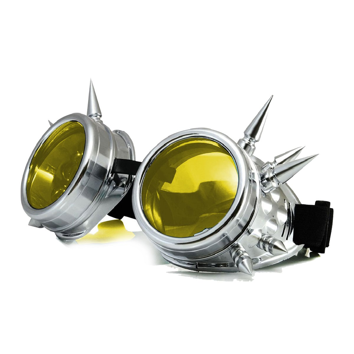 Halloween Cosplay Goggles, Spiked Retro Glasses Free Lens Steampunk Goggles