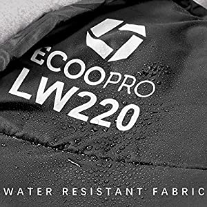 """ECOOPRO Warm Weather Sleeping Bag - Portable, Waterproof, Compact Lightweight, Comfort with Compression Sack - Great for Outdoor Camping, Backpacking & Hiking-83 L x 30"""" W Fits Adults (Black)"""