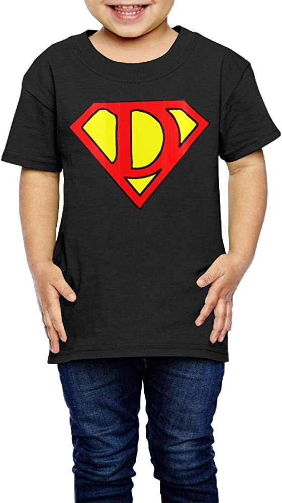 Yishuo Kids Super Dad Mug Cool Party Tee Short Sleeve Black 4 Toddler
