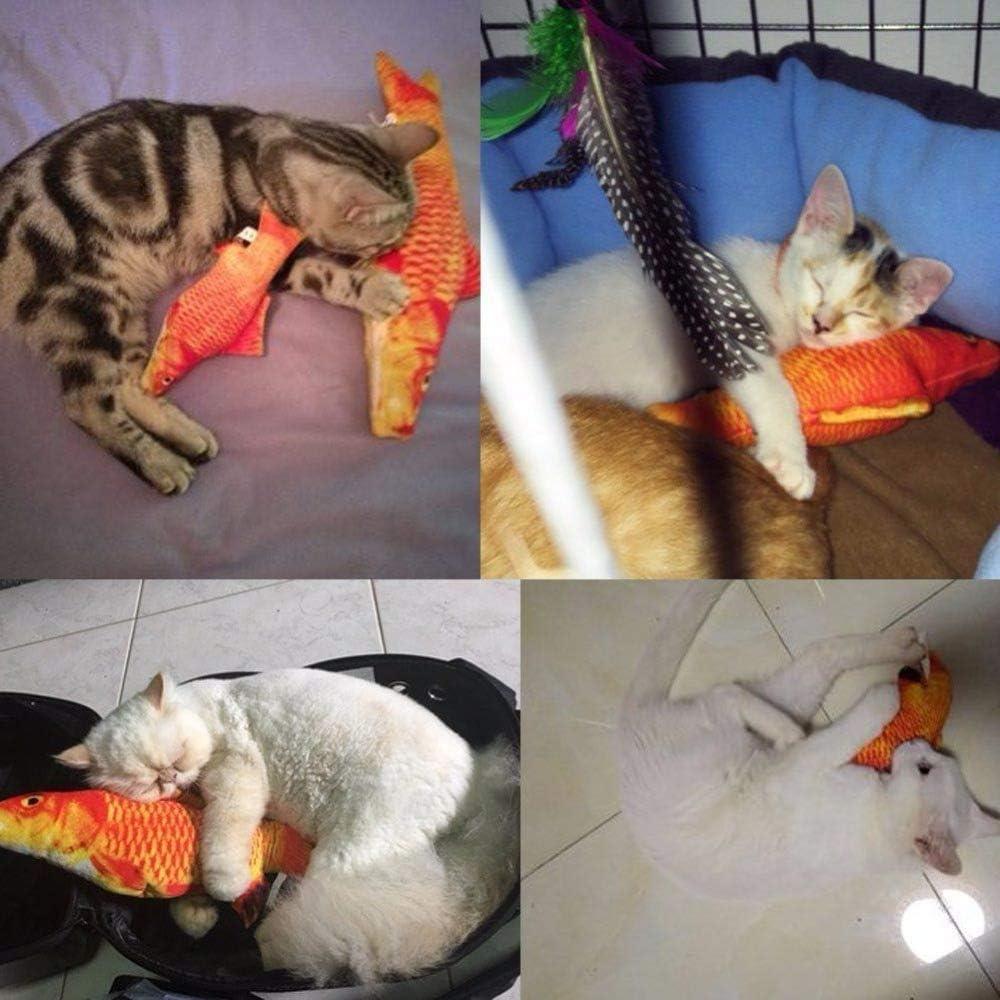 IAMXXYO Fish Cat Catnip Toy Masticar Y Patear Catnip Toys Morder Simulaci/ón El/éctrica Fish Shape Doll Indoor Interactive Dancing Fish para Kitty