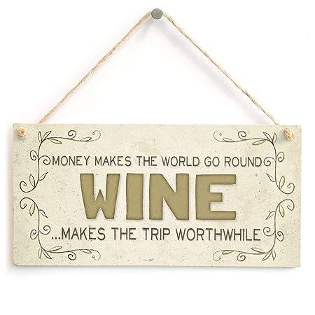 Hunnry Wine Make The Trip Worthwhile Letrero de Placa de ...