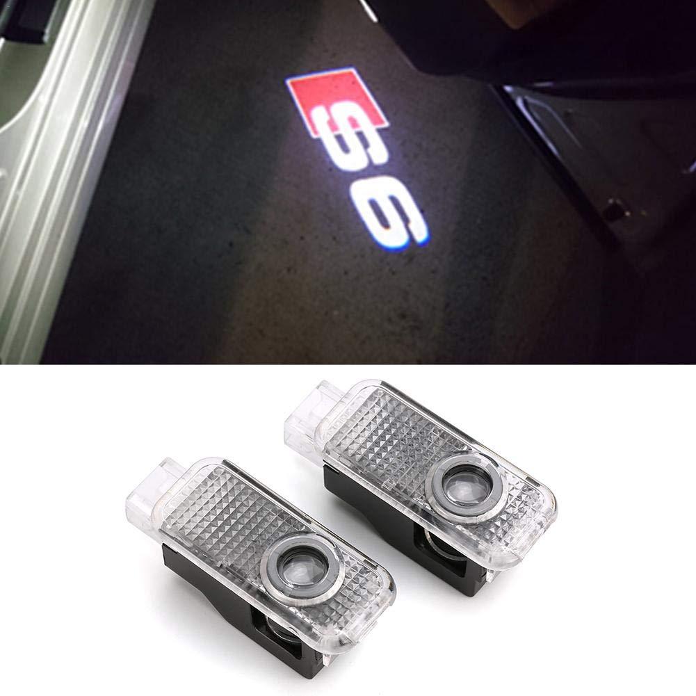 2 Pack Car Ghost Shadow Logo Light Car Door Luce del proiettore Logo LED Door Lamp per Audi A1 A3 Q5 A4 A7 A5 A6 Q3 Q7 A8 R8 Sline TT