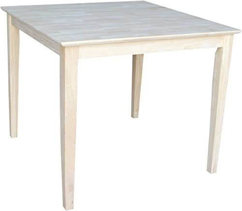 International Concepts Solid Wood Top Table with Shaker Legs, 30-Inch