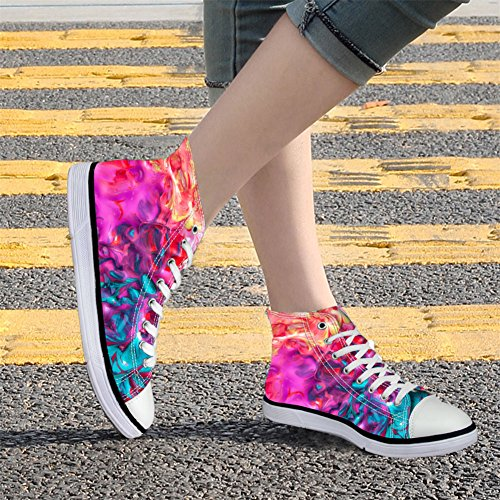 HUGS IDEA colorful Fashion Womens High Top Canvas Shoes Sport Sneakers Coloful 2 MG4QRzpH3