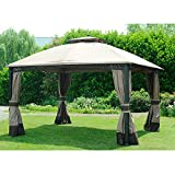 gazebo curtains 12x12 Sunjoy Replacement Curtain for 10x12 ft Windsor Gazebo
