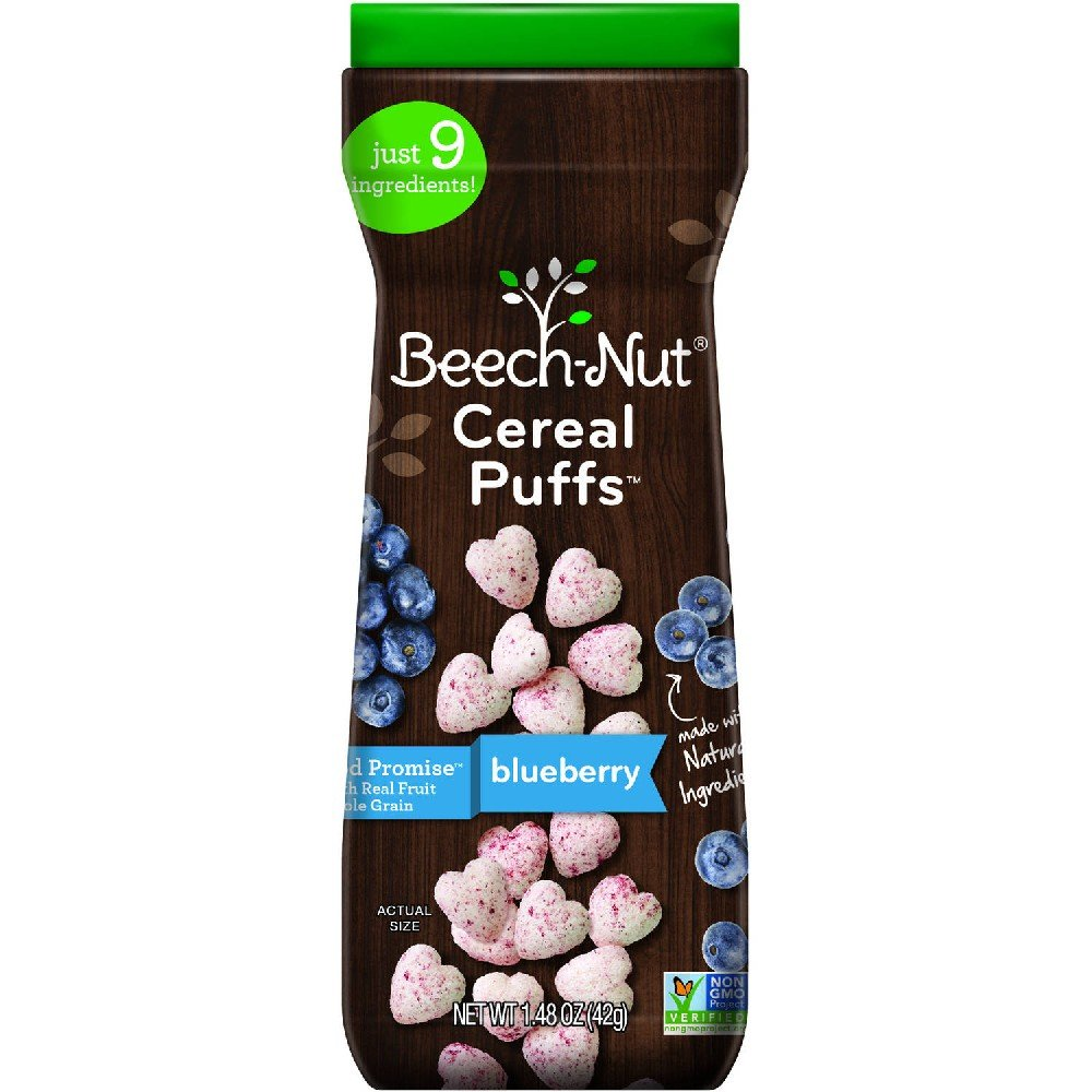 Beech-Nut Cereal Puffs, Blueberry (Pack 0f 4)