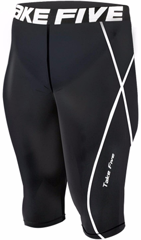 JustOneStyle fünf Men's 056 Skin Tight Running Compression Baselayer-Shorts, Schwarz