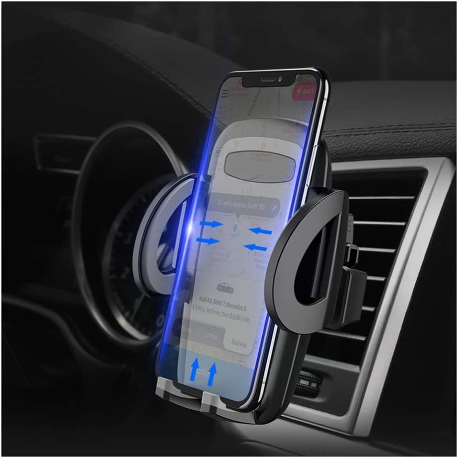 LEYME-Phone Bracket,Car Phone Mount,Vehicle-Mounted Air Conditioning Outlet Bracket,One-Touch Design for iPhone X//8//8Plus//7//7Plus//6s//6P//5S,Galaxy S5//S6//S7//S8,Google,Huawei etc