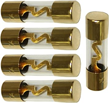 Aerzetix lotto di 5 fusibili agu per amplificatore sub auto 30a c1498
