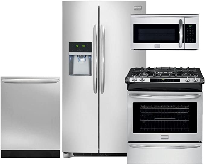 Amazon.com: Frigidaire Galería 4-Piece smudge-proof Acero ...