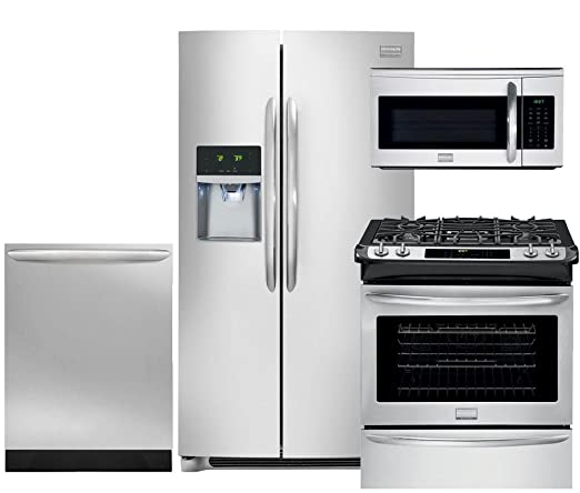 Amazon.com: Frigidaire Gallery 4-Piece Smudge-Proof Stainless Steel on ge kitchen appliances packages, discount stainless steel appliance packages, bosch kitchen appliances packages,