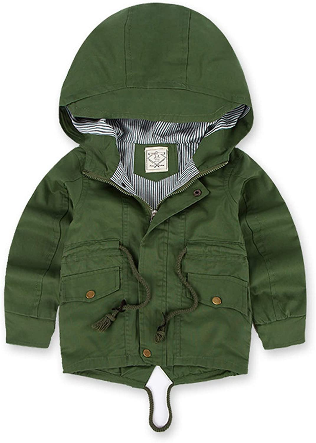 UWBACK Kids Winter Coat Thick Padded Puffer Jacket with Hooded Spring Windbreaker Boys