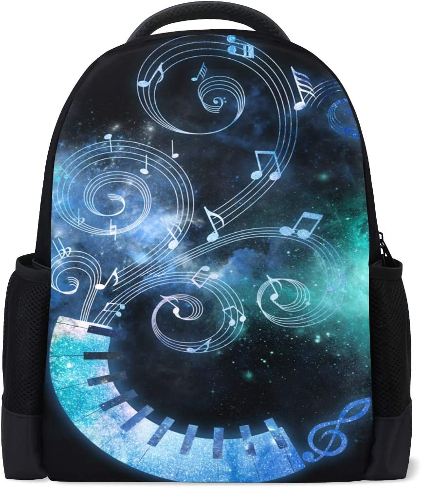 Holds 15.4 Laptop Student Backpacks College School Book Bag Travel Hiking Camping Daypack Waterproof Lightweight Polyester for boy for Girl Piano 16.1x11x6