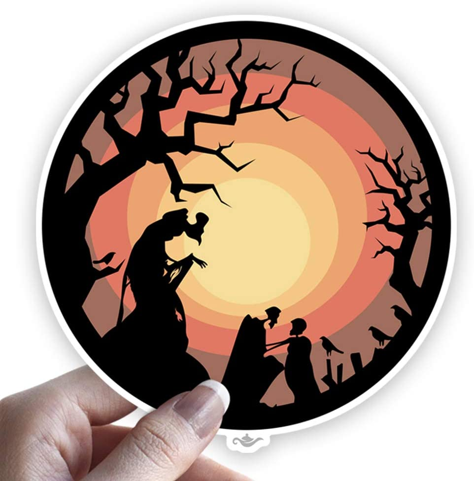 Grantedesigns Deathly Hallows from Harry Potter Sticker Decal for Laptop or Any Flat Surface