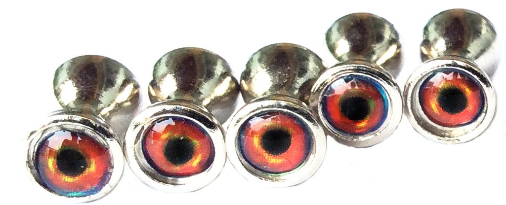 Brule 3-D Dumbbell Eyes (RedHot, S) by Brule Outdoors