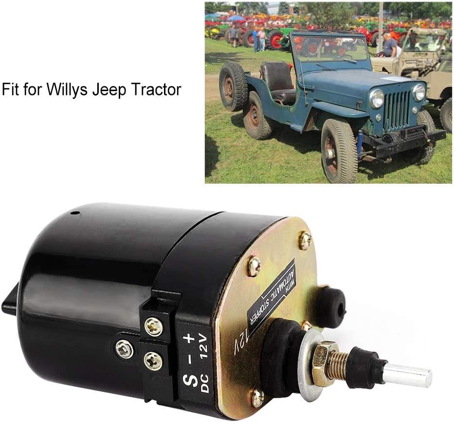 Auto Auto Windschutzscheibe Scheibenwischermotor 12V 7731000001 01287358 0390506510 Kompatibel mit Wil-lys J-eep Traktoren