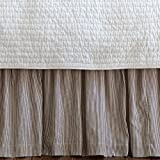 Farmhouse Stripe Bed Skirt Size: Queen