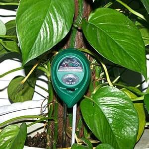 OBOSS 3-in-1suelo hidropónico la humedad/luz/PH Tester Medidor