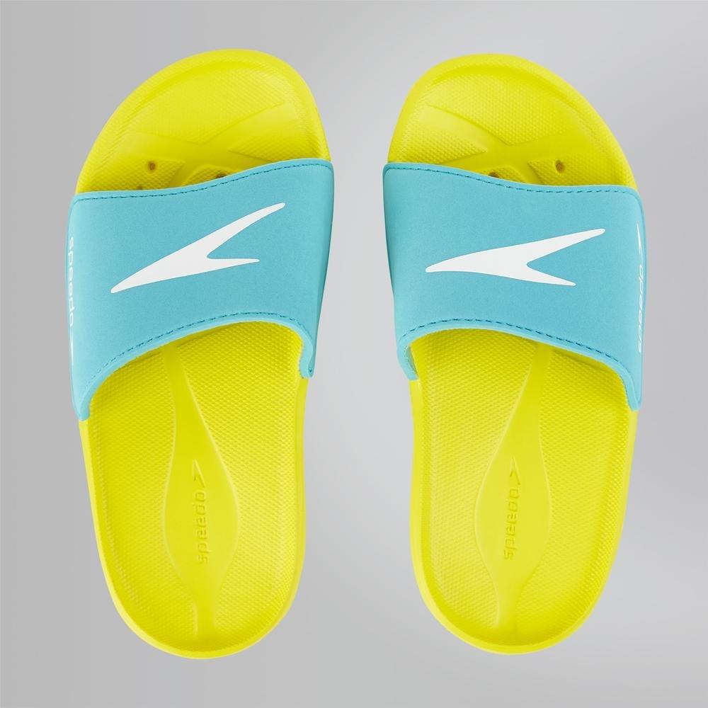 34.5 EU Speedo Atami Core Slide Empire Yellow//Bali Blue 000 Zapatos de Playa y Piscina Unisex ni/ño,