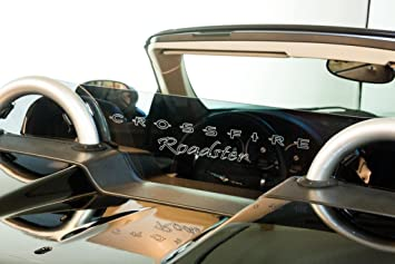 Clear w// ROADSTER Engraving DEFLECTAIRTM Wind Deflector for Chrysler Crossfire Convertible