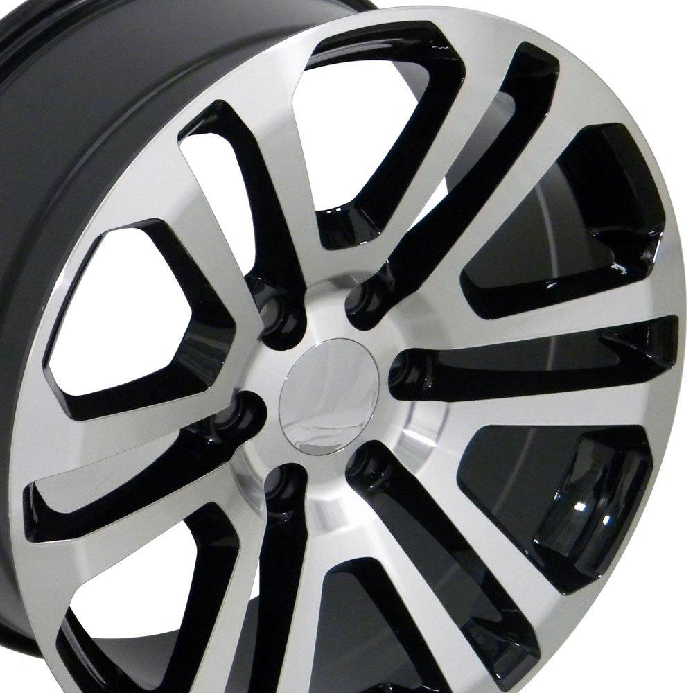 All Chevy chevy 22 inch rims : Amazon.com: 20x9 Wheels Fit GM Trucks - Sierra Style Rims - Black ...