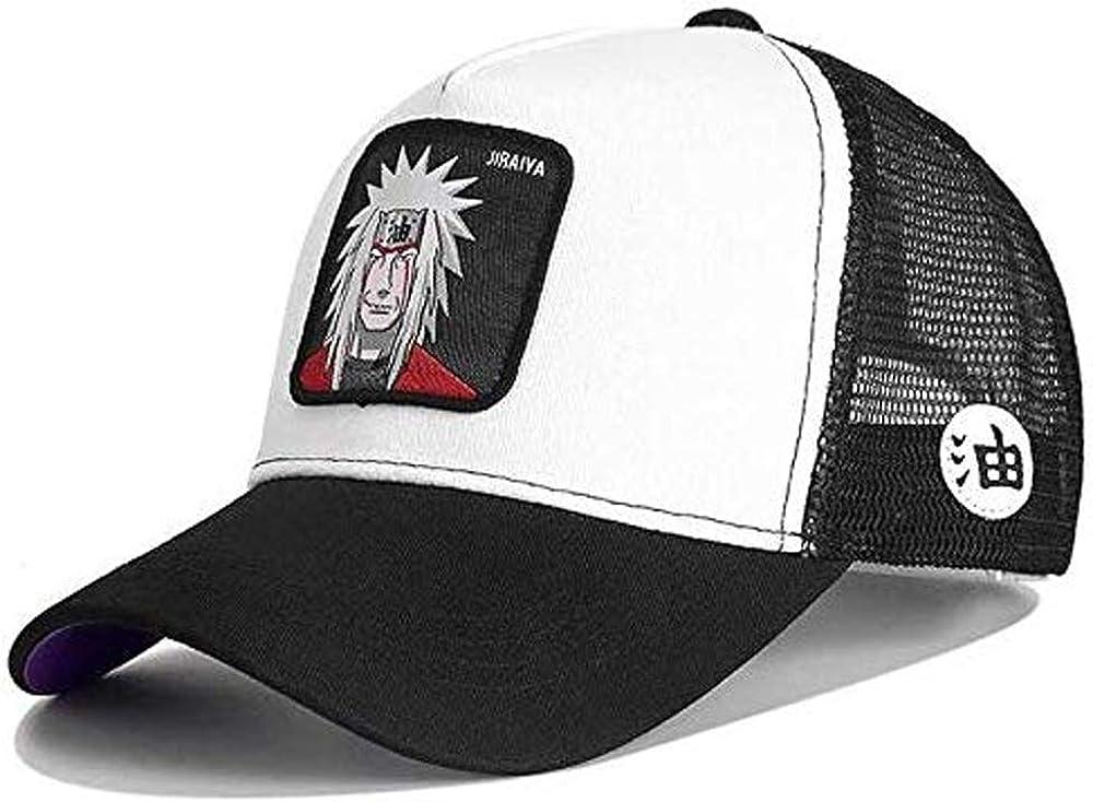 Gorra Visera Curva Trucker Naruto Jiraiya Blanca y Negra: Amazon ...