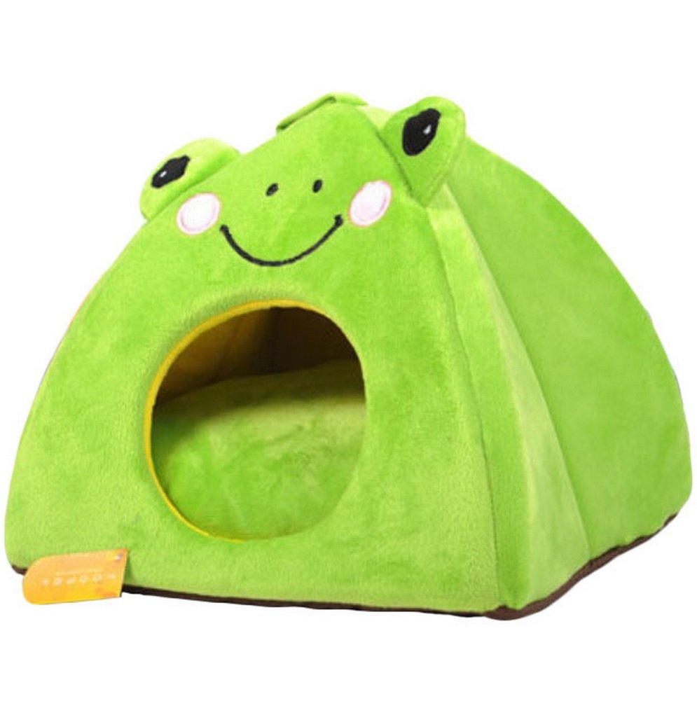 Pet Bed Dog Puppy Cat Soft Cotton Fleece Warm Nest House Mat-The Frog Prince