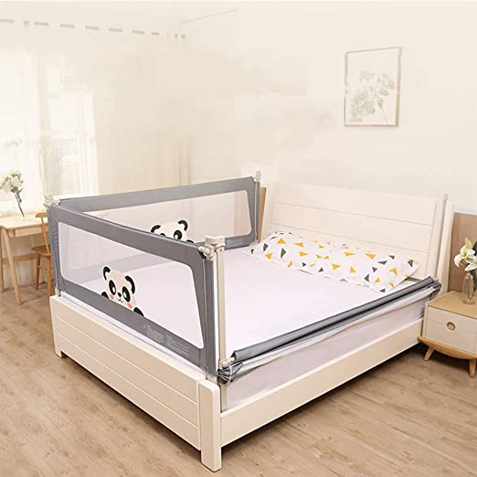 color beige barrera para cama de ni/ños barrera de seguridad para cama protecci/ón universal 1,5 m de malla transpirable AYNEFY Barrera de cama para ni/ños