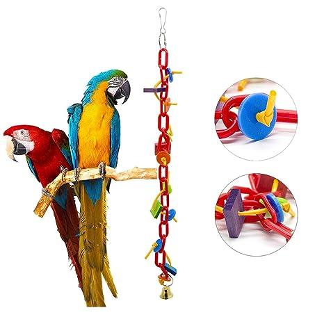XDYFF Juguetes para Pájaros Colorful Columpio para Loros ...