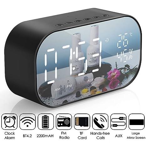 Boomder Radio reloj despertador, Altavoz Bluetooth inalámbrico ...
