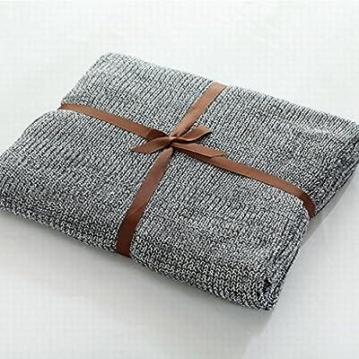 Ropa de cama Mantas y colchas Manta de algodón de Punto Gris Manta de algodón de Ocio Manta de Viaje Manta de niño Manta de niño (Size : 180 * 220cm): Amazon.es: Hogar