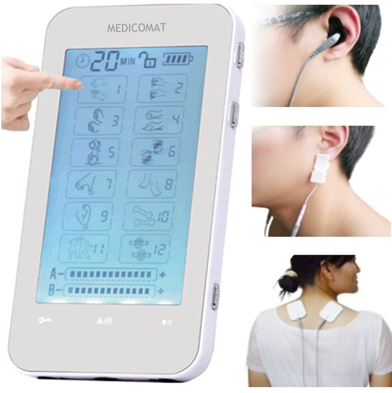 Acupuncture Stress Depression Anxiety Medicomat-3 Electronics Acupuncture