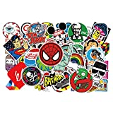 50pcs Cartoon Anime Stickers for Laptop Stickers Motorcycle Bicycle Skateboard Luggage Decal Graffiti Patches Stickers for [No-Duplicate Sticker Pack]